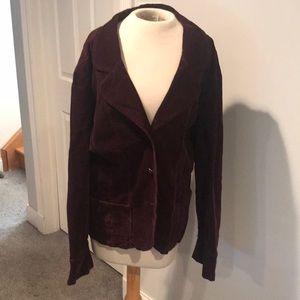 Venezia corduroy burgundy fitted blazer